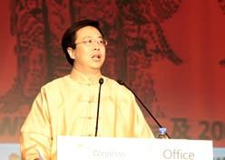 英特尔中国产品总监洪力祝贺Vista上市