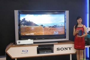 SONY展示蓝光影碟机及高清电视